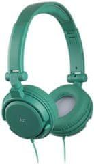 KitSound multifunkční sluchátka iD s mikrofonem, 3,5 mm, zelená
