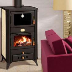Prity FG W18 kaminska peč na drva s pečico, za etažno ogrevanje