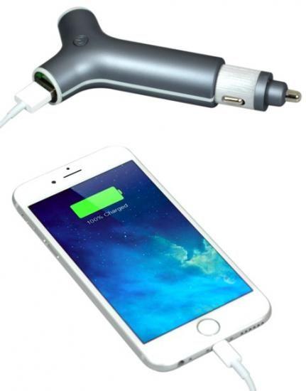 Port Designs avtopolnilec 2x USB + powerbank (202077)