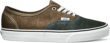 Vans U Authentic (Washed 2 Tone) Black/Desert Palm 44