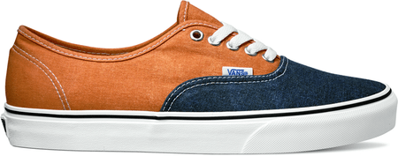 Vans U Authentic (Washed 2 Tone) Peacoat/Golden Ochre 46