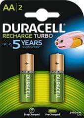 Duracell prednapolnjena polnilna baterija 2400 mAh AA K2