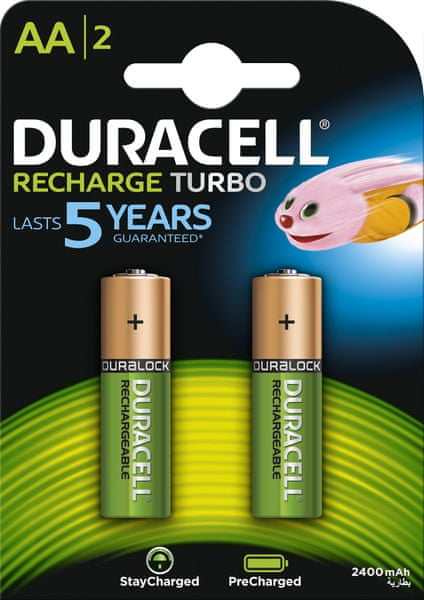 Duracell StayCharged, 2400mAh, AA, 2ks