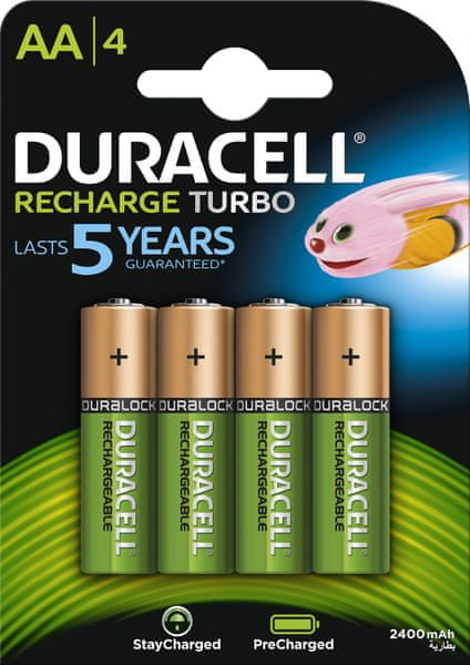 Duracell StayCharged, 2400mAh, AA, 4ks