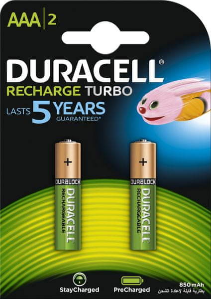 Duracell StayCharged, 850mAh, AAA, 2ks