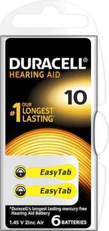 Duracell Hearing Aid, 10, 6ks