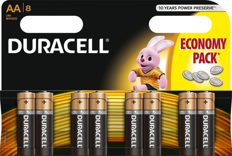 Duracell Basic, AA, 8ks