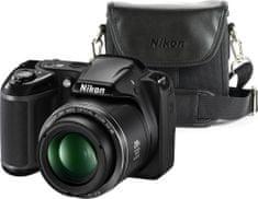 Nikon Coolpix L340 Black + pouzdro CS-P08