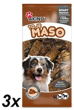 Akinu gryzak dla psa Płuca suszone 3 x 300 g