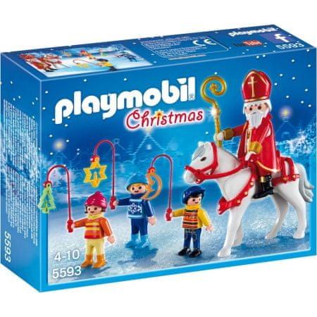 Playmobil Św. Mikołaj i dzieci z latarniami 5593