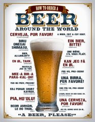 Postershop Plechová tabuľa  Beer (around the world)