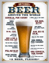 Postershop Metalowa tabliczka Beer (around the world)