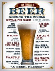 Postershop Plechová cedule Beer (around the world)