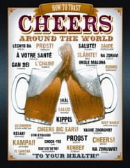 Postershop okrasna tabla Beer (Cheers) 40 x 30 cm