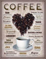 Postershop Plechová cedule Coffee (Kávové srdce)