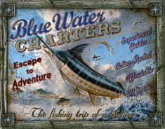 Postershop Plechová tabuľa  Rybárčenie Mečúň