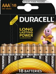 Duracell Basic, AAA, 18ks