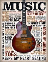 Postershop Plechová tabuľa MUSIC