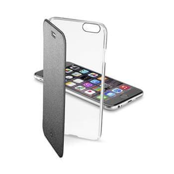 CellularLine čiré flipové pouzdro, Apple iPhone 6, černé