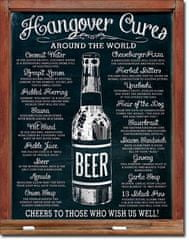 Postershop okrasna tabla Hangover Cures 40 x 30 cm