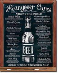 Postershop Plechová cedule Hangover Cures