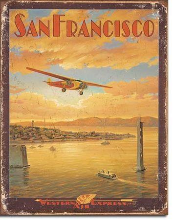 Postershop Metalowa tabliczka San Francisco (Western Air Express)