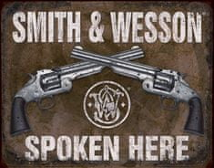 Postershop okrasna tabla Smith & Wesson (2 revolverja) 40 x 30 cm