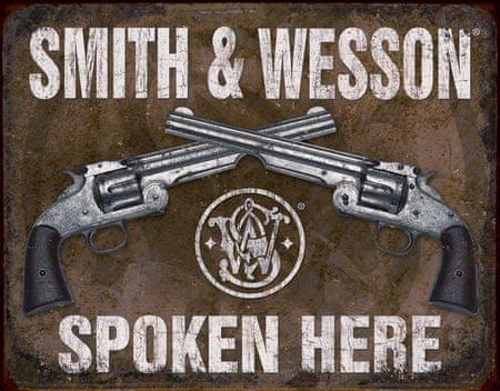 Postershop Plechová cedule Smith & Wesson (Dva Revolvery)