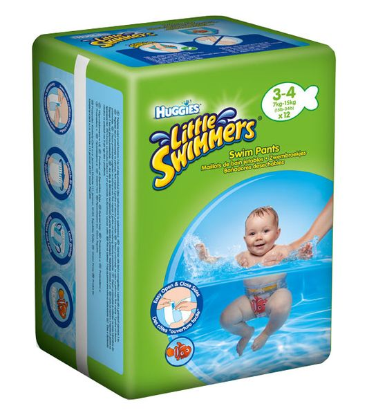 Huggies plenky Little Swimmers 7 - 15 kg/12 ks