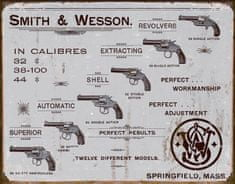 Postershop okrasna tabla Smith & Wesson (revolverji) 40 x 30 cm