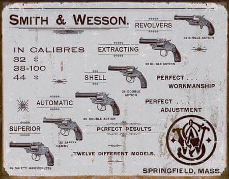 Postershop ukrasna tabla Smith & Wesson (revolveri) 40 x 30 cm