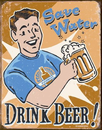 Postershop Plechová tabuľa  Drink Beer!