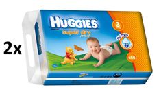 Huggies Pieluchy Super Dry Double Pack Midi 3 (4-9 kg) - 116 szt
