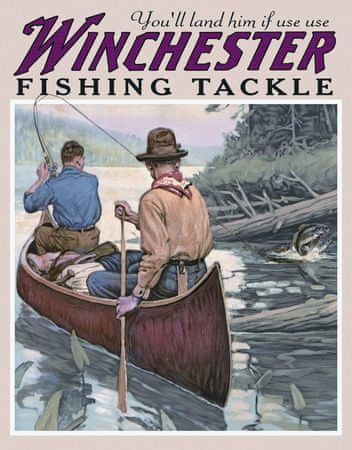 Postershop Plechová tabuľa Winchester (Na rieke)