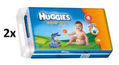 Huggies Pieluchy Super Dry Double Pack Maxi 4 (7-14 kg) - 104 szt