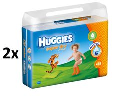 Huggies Super Dry Double Pack Extralarge 6 (16-30 kg) - 76 szt