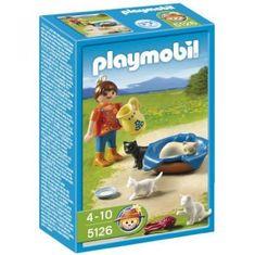 Playmobil 5126 Kislány macskacsaláddal