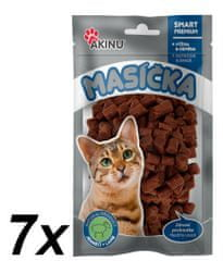 Akinu przysmak dla kota Mięsne kawałki z jagnięciny - 7 x 50g