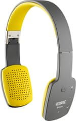 Yenkee słuchawki Bluetooth szaro-żółte (YHP15BTGY)