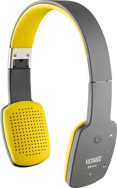 Yenkee Bezdrátová Bluetooth sluchátka (YHP 15BTGY) šedo žlutá