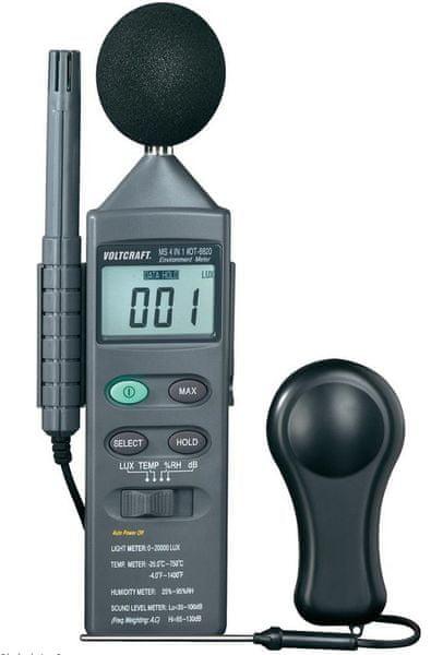 Voltcraft Měřič parametrů prostředí DT 8820 (101040)