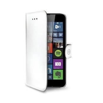 Celly Pouzdro Wally, Microsoft Lumia 640 / 640 Dual SIM, bílé