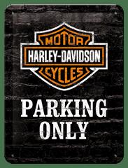 Postershop Plechová cedule 15x20 cm Harley-Davidson Parking Only