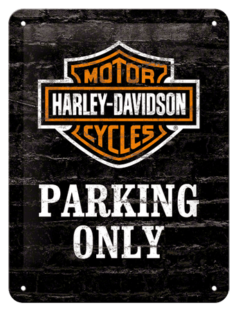 Postershop Metalowa tabliczka Harley-Davidson Parking Only