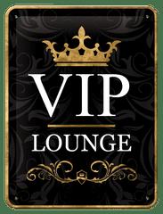 Postershop Plechová tabuľa 15x20 cm VIP Area