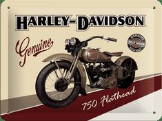 Postershop Plechová cedule 15x20 cm Harley-Davidson Flathead