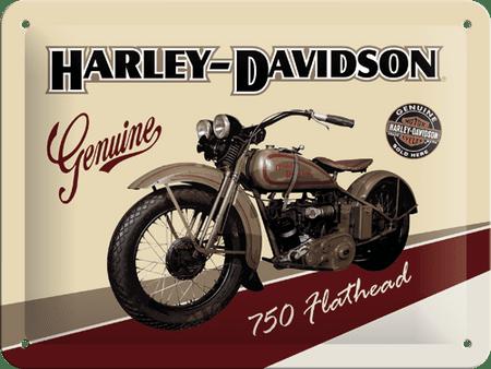 Postershop okrasna tabla Harley-Davidson Flathead 15 x 20 cm