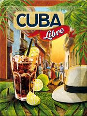 Postershop Plechová cedule 15x20 cm Cuba Libre