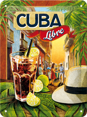 Postershop Plechová tabuľa 15x20 cm Cuba Libre