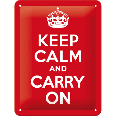 Postershop okrasna tabla Keep Calm and Carry On 15 x 20 cm
